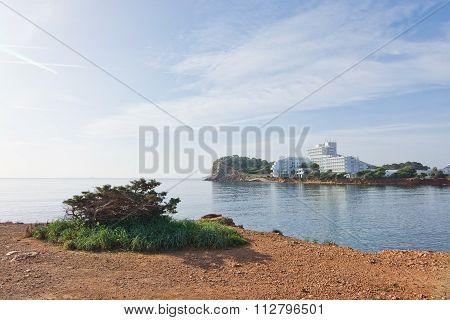 Ibiza Natural Rock And Ocean Landscape