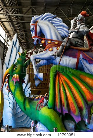 New Orleans Mardi Gras World - Saint George