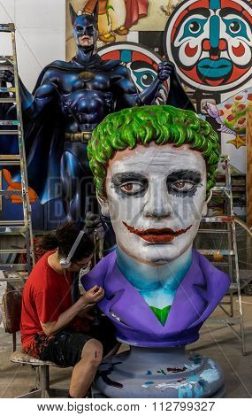 New Orleans Mardi Gras World Workshop - The Joker and Batman