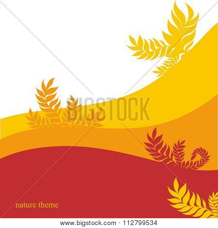 Vector Autum Tree Leaves Background