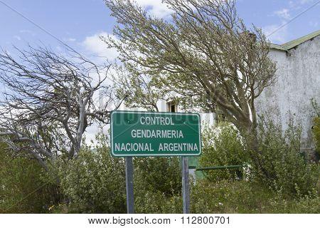 Argentina Border Sign