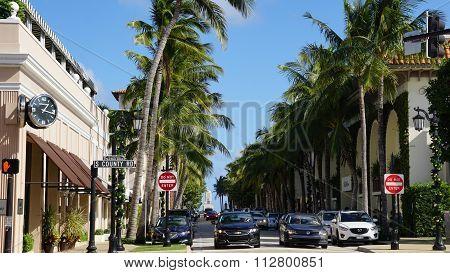 Worth Avenue in Palm Beach, Florida