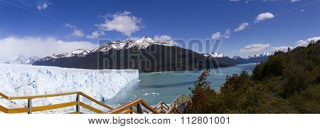 Panorama Lake Argentino And Perito Moreno Glacier Balcony System