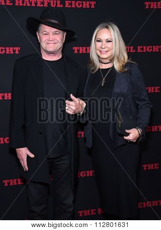 LOS ANGELES - DEC 07:  Micky Dolenz & Donna Quinter arrives to the
