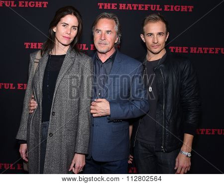 LOS ANGELES - DEC 07:  Don Johnson, Kelley Phleger & Jesse Johnson arrives to the