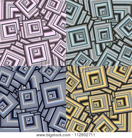 Square Abstract Geometric Background Vector Illustration