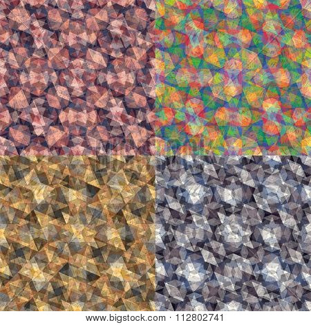 Triangles Collection Abstract Background Vector Illustration
