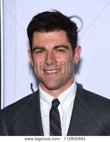 LOS ANGELES - NOV 12:  Max Greenfield arrives to the AFI Fest 2015 Closing Gala 'The Big Short' World Premiere  on November 12, 2015 in Hollywood, CA.