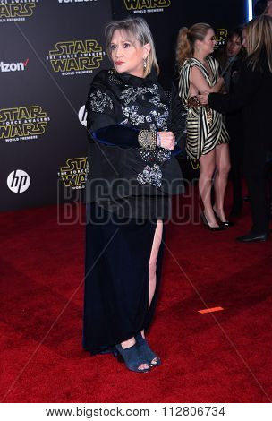 LOS ANGELES - DEC 14:  Carrie Fisher arrives to the