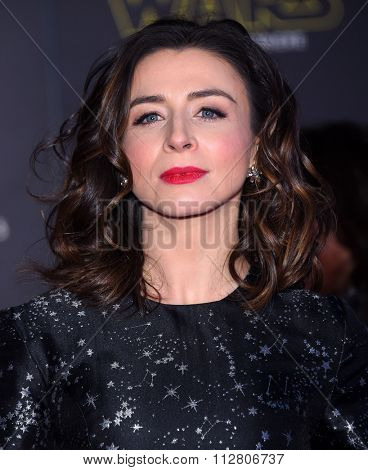 LOS ANGELES - DEC 14:  Caterina Scorsone arrives to the