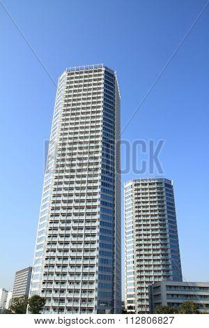 high rise condominium in Futagotamagawa, Tokyo, Japan