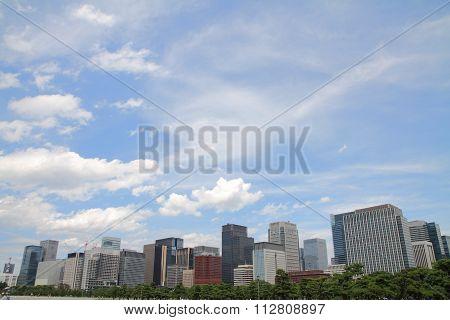 high rise buildings in Murunouchi Tokyo Japan