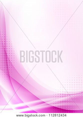Abstract Pink Flowing Background