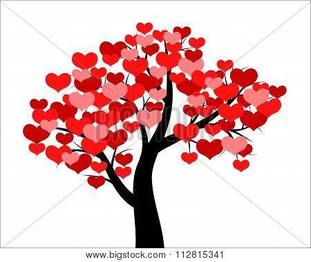 Tree Decorated Hearts