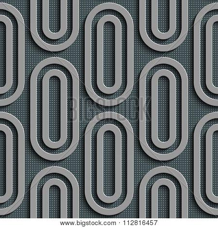 Seamless Ellipse Pattern. Vector Gray Background