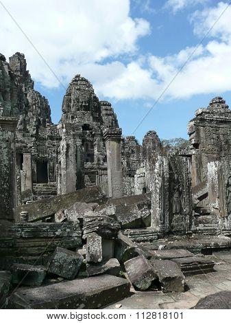 Ruins in Angkor Wat, Cambodian
