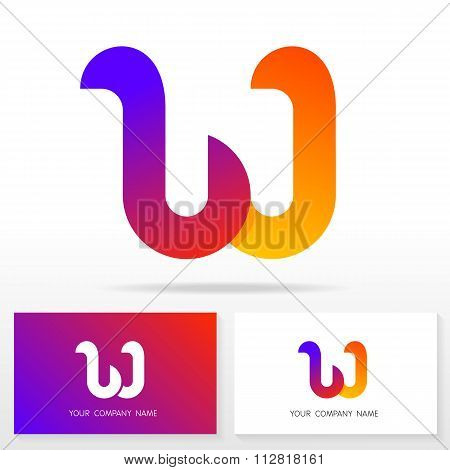 Letter W logo icon design template elements - Illustration.