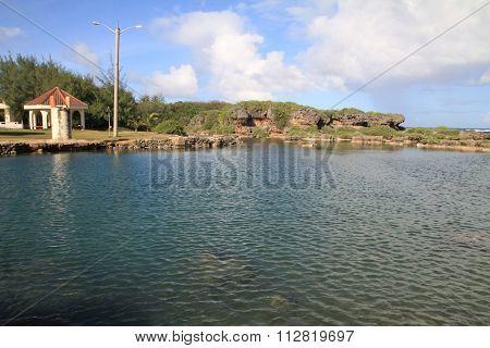 Inarajan natural pool in Guam Micronesia