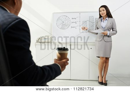 Conducting business presentation