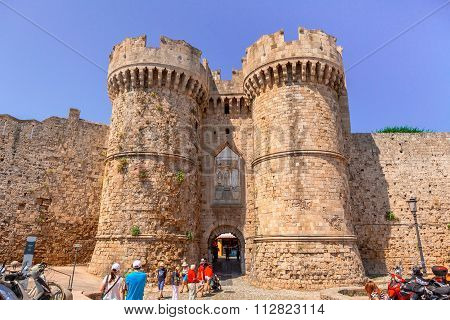 The Marine Gate in Rhodes.