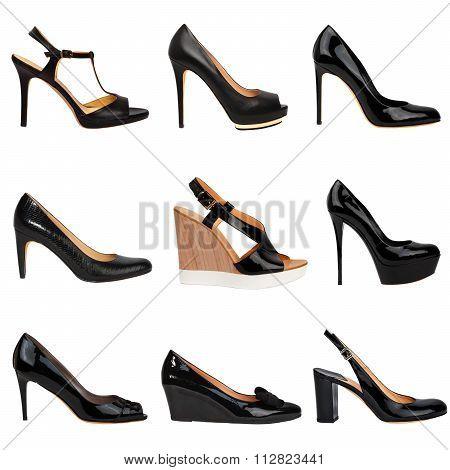 Dark Female Shoes