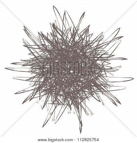 Scribble Effect Round. Pencil Scribble Vector