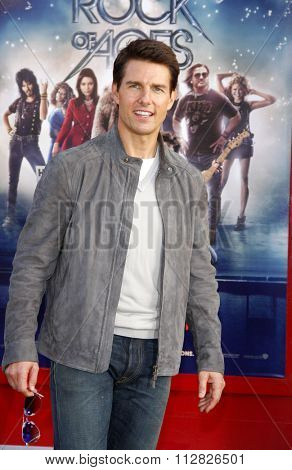 Tom Cruise at the Los Angeles premiere of