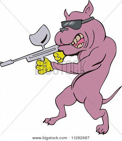 Dog Gangster Cartoon
