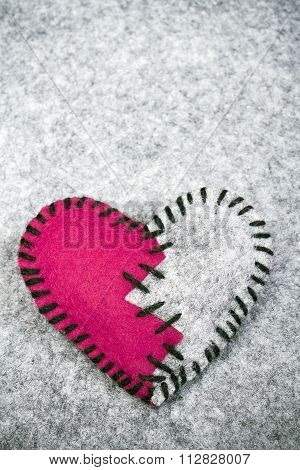 stitched broken heart