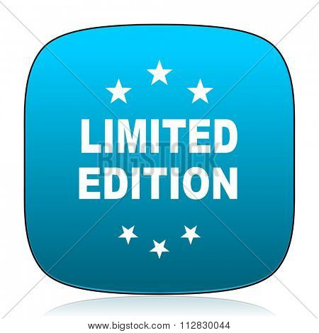 limited edition blue icon
