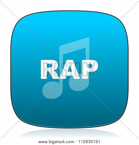 rap music blue icon