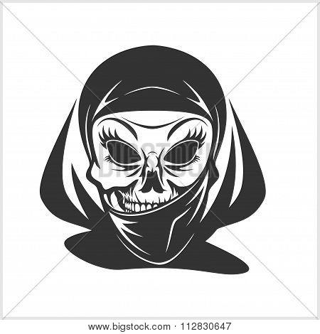 Arabic skull in hijab