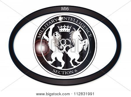 Mi6 Oval Badge