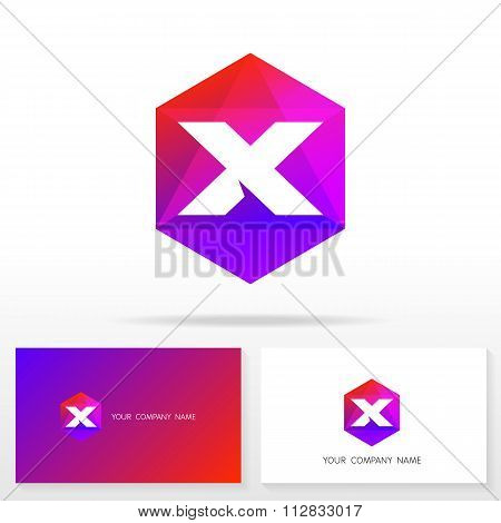 Letter X logo icon design template elements - Illustration.