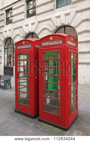 Red Telephone Boxes - London
