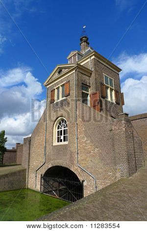Gatehouse Of Kruithuis In Delft, Holland