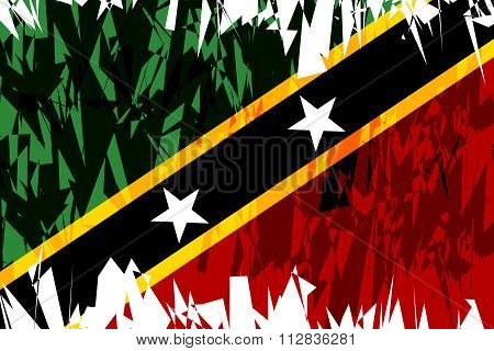 Flag Of Saint Kitts And Nevis.