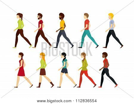 people walking design