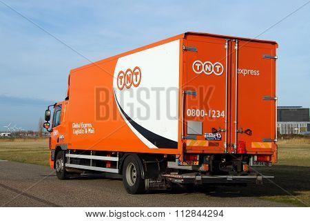 TNT Global Postal delivery truck - DAF