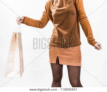 Shopping bags in female hands