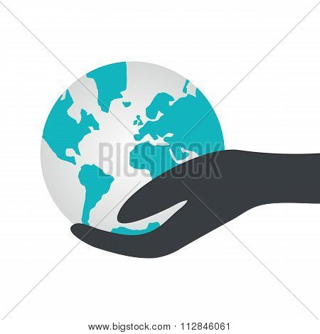 Hand Holding A Globe.