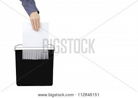 Destroy white documents