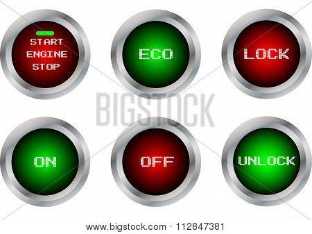 Vector Button Symbol Isolate