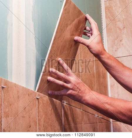 Laying Wall Tile Series.