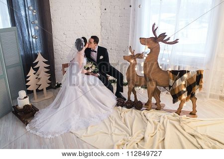 Couple Married On Christmas Eve.