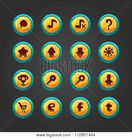 Set Of Vector Button For Game Design-2