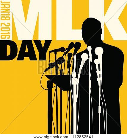 Dec. 29, 2016. Illustration of Martin Luther King, Jr.  to celebrate MLK day.