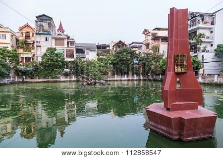Hanoi, Vietnam - Circa September 2015: May Bay B-52 Lake In Hanoi,  Vietnam