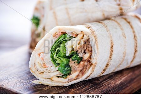 Healthy Chicken Grilled Wrap