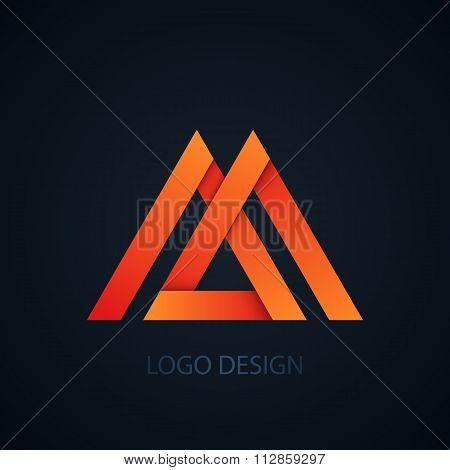 Vector illustration of logo letter m